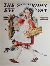 "Norman Rockwell Vintage Poster Print 17"" x 22"" 1929 no peeking S"