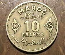 PIECE DE 10 FRANCS DU MAROC 1371 (189)