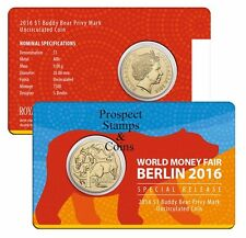 2016 - $1 MOB OF ROOS - WMF Buddy Bear Privymark - $1 Aust UNC Coin