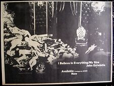 the who John Entwistle 1971 Poster Ad I Believe In Everything my size