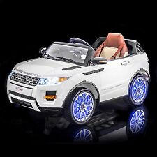 SPORTrax Luxurious Range Rover Style Kids Ride on SUV, FREE MP3 Player, White