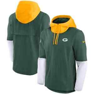Brand New 2021 NFL Green Bay Packers Nike Sideline Player Quarter-Zip Jacket NWT