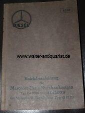 Betriebsanleitung LKW Mercedes-Benz Nutzkraftwagen Lo 2000 D/2500 D Motor OM 59