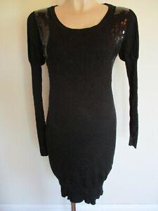 LIMITED COLLECTION MATERNITY BLACK EMBELLISHED JUMPER DRESS SIZE 10