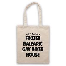 FROZEN BALEARIC GAY BIKER HOUSE NICHE DANCE MUSIC SHOULDER TOTE SHOP BAG
