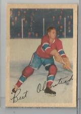 1953-54 Parkhurst Hockey Bert Olmstead Card # 19 EX Condition Set Break