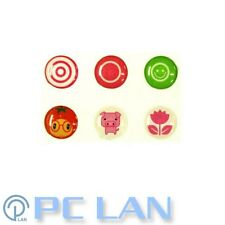 6 PCS Cute Tomato Girl Pig Flower Home Button Sticker for iPad1/2/3/4 +Bonus Set