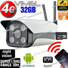 IP Camera 4G 3G GSM Wireless Security Farm Alarm System Remote Monitoring phone