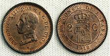 ALFONSO XIII 2 CENTIMOS 1812*12 MADRID UNC/S/C COLOR Y BRILLO ORIGINAL