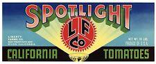 SPOTLIGHT Brand, Dixon, California  **AN ORIGINAL TOMATO CRATE LABEL** L36