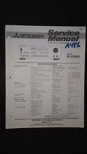 Mitsubishi m-vr800 service manual original repair book stereo av.