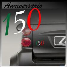 ADESIVO 150 ANNIVERSARIO unità D' ITALIA TRICOLORE