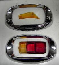 Citroën :2 enjoliveurs phare Ami6 + cabochon feu AR Dyane et clignotant (Alpine)