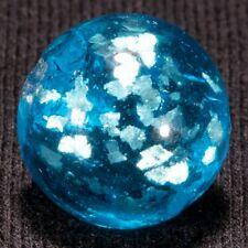 "Handmade MICA FLAKE LOADED BLUE BASE Vintage Marble, .58"", MINT-, hawkeyespicks"