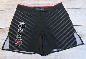 Hayabusa Boxing MMA Kickboxing Jiu Jitsu Training Mens Shorts Black Logo 32 x 7