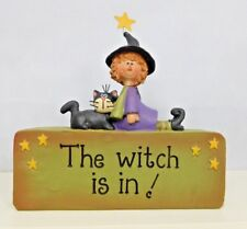 The Witch is in! Block with a Witch - New resin block by Blossom Bucket #82533B