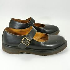 Dr Martens Ladies Genuine Leather Mary Janes Shoes Size UK 4 Black Strap 301628