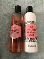 2pc The Body Shop JAPANESE CHERRY BLOSSOM BODY LOTION & Shower Gel 8.4oz Ea New