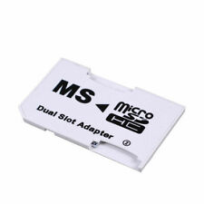 New CR-5400 PhotoFast MicroSD MicroSDHC TF Card to MS Pro Duo Dual Slot Ada H7Y8