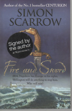 SIGNED SIMON SCARROW FIRE AND SWORD FIRST EDITION PAPERBACK 2009