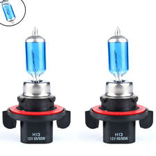 2 x H13 9008 6000K Xenon Gas Halogen Headlight White Light Lamp Bulbs 55W 12V HS