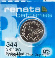 1 Pc 344 Renata Watch Batteries SR1136SW  Accutron  0% MERCURY