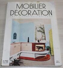 Mobilier Décoration N°2 de 1955 / DAUM / KNOLL / P.JACQUET / ARTELUCE / BAUDOIN