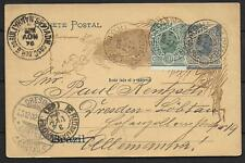 Brazil covers 1902 uprated Stationery Pc Taquari over Rio to Dresden