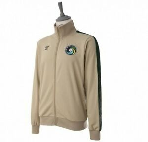 NEW YORK COSMOS UMBRO MLS JACKET TRACK TOP UNISEX SMALL SM S TAN SPRAY GREEN