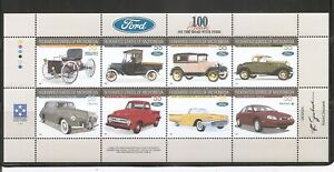 Micronesia  SC # 245a-h 100 Years on the road with Ford. Miniature Sheet . MNH