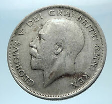 1920 Great Britain United Kingdom UK King GEORGE V Silver Half Crown Coin i77849