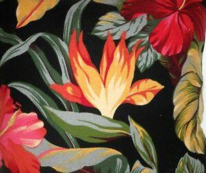 Hawaiian 100% Cotton Barkcloth Fabric Pillow SLIPCOVER ~Pau Hanna-Black~