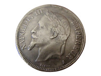 France 5 Francs Napoléon III 1866 A 💥Réamorçage💥