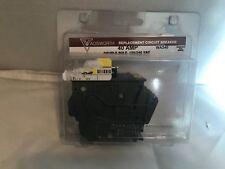 NEW Wadsworth 40 Amp Double Pole Circuit Breaker WA240 (A011)