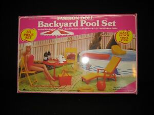 Vintage Arco Fashion Doll Backyard Pool Set Pepsi for Barbie & Others In Box GB5
