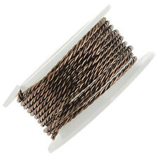 Artistic Wire Twisted Wire, 18 Gauge Thick, 2 Yard Spool, Antiqued Brass Color