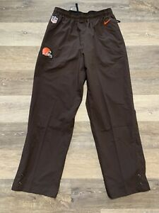 Men's Nike NFL Cleveland Browns Storm Fit On-Field Rain Pants Brown Size XL