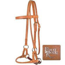 Billy Royal LEATHER ROLLED NOSE SIDE PULL BRIDLE Bitless