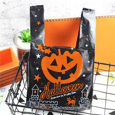 20pcs Halloween Pumpkin Tote Bag Kids Trick or Treat Candy Holder Gift Bag Wrap