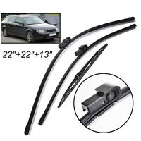 Front Rear Window Windscreen Wiper Blades Kit For Audi A4 B6 8E 8H 2000-2003