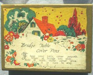 VERY RARE Vintage Trump marker Bridge Table Cover Pins in original box
