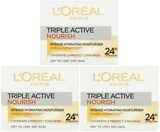 3 x 50ml LOreal Triple Active Nourish Intense Hydrating Moisturiser (Dry Skin)