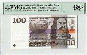 Netherlands 100 Gulden 1970 Michiel de Ruyter Pick 93 PMG Superb Gem UNC 68 EPQ