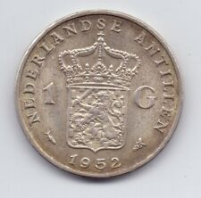 1952 Netherlands Silver 1 Gulden Coin Nederland Dutch 1G