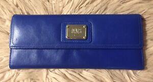 Dents Soft Blue Leather Purse Wallet