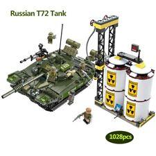 1028 Pcs Military T72 Russian Battle Tank Building Blocks Legoed Army War WOT