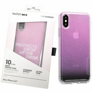 Tech21 Ultra-Thin Case For iPhone X/XS Iridescent Pure Shimmer Back Cover