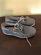 Men's COLE HAAN Gray Boat Shoes Size 8