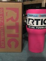 RTIC Double Wall Vacuum Insulated Tumbler, 20 oz, Pink with Spillproof Lid