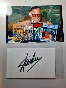 "Stan Lee ""Marvel Comics Creator"" Original Authentic Autograph w/Photo"